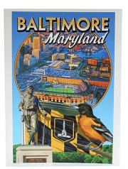 Baltimore Maryland 9 X 12 Art Print