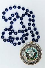 Navy Fan Beads