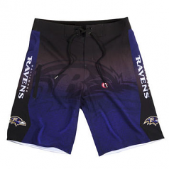 Baltimore Ravens Gradient Board Shorts