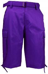 Purple Cargo Shorts By Regal Wear