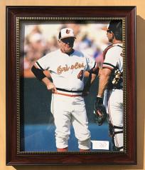 Framed 8x10 Photo Of Baltimore Orioles Earl Weaver