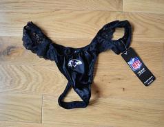 Baltimore Ravens Black Lace Thong Underwear
