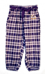 Ravens Purple Plaid Capri Pant Pajamas