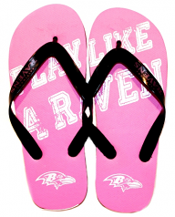 Play Like A Raven Pink Flip Flop