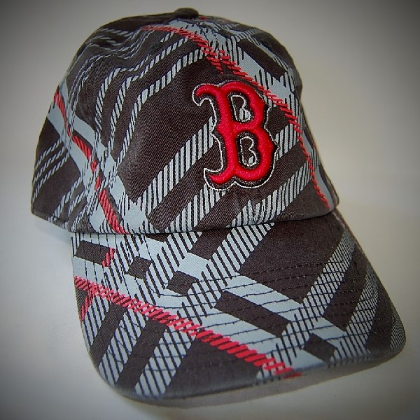 Plaid Boston Red Sox Hat