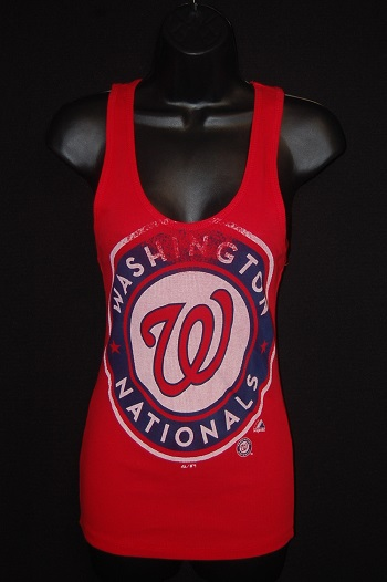 Washington Nationals Ladies Ribbed Tank Top