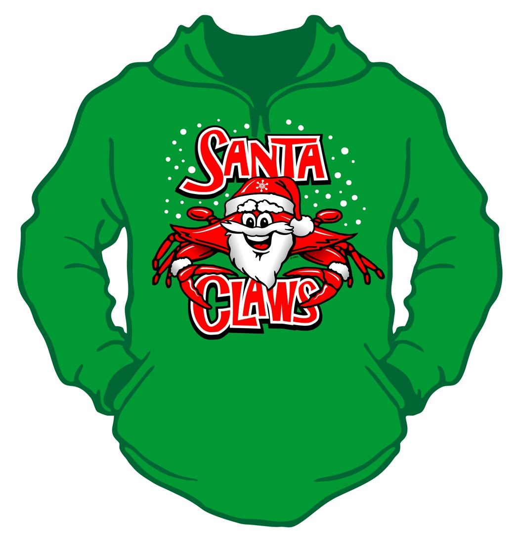 Santa Claws Hooded Sweatshirt