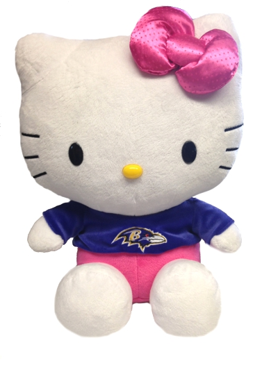 Large Hello Kitty Baltimore Ravens Plush
