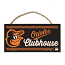 Orioles Clubhouse Small Wooden Sign