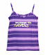 Concept Sports Ravens Purple Striped Tank Top