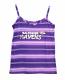 Concept Sports Ravens Purple Striped Tank Top