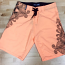 Tropical Print Orange Board Shorts