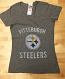 Pittsburgh Steelers Ladies V-Neck T-Shirt