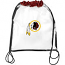 Washington Redskins Clear Drawstring Bag