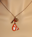 Orioles Three Charm Necklace