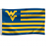 West Virginia Mountaineers Patriotic House Flag