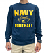 Navy Football Long Sleeved Men's T-Shirt