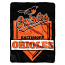 "Baltimore Orioles 60"" x 80"" Home Plate Royal Plush Blanket"
