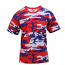 Red, White & Blue Camo T-Shirt