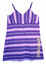 Concept Sports Ravens Purple Striped Nightgown