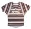 Concept Sports Orioles Black Striped V-Neck Dolman Short Sleeve T-Shirt