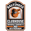 Baltimore Orioles Clubhouse Wood Sign
