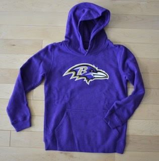 Baltimore Ravens Youth Purple Hooded Sweatshirt