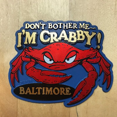 Maryland I'm Crabby Magnet Blue
