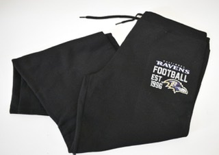 Baltimore Ravens Ladies Black Sweatpants