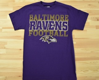 Baltimore Ravens Graphic Gold T-Shirt