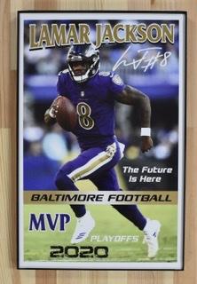 Baltimore Ravens' Lamar Jackson MVP 11x14 Poster