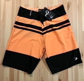 Young Men's Black & Orange Board Shorts