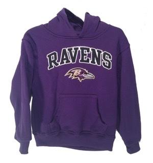 Ravens Purple Toddler Hooded Sweatshirt