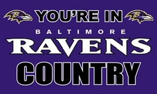 Baltimore Ravens Country 3x5 House Flag