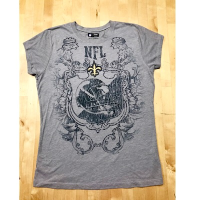 New Orleans Saints Ladies Gothic T-Shirt