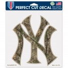 New York Yankees Woodland Camo Decal