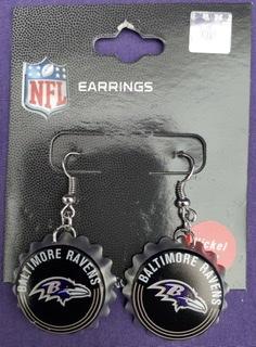 Baltimore Ravens Bottlecap Earrings