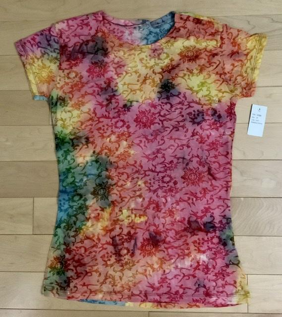 My Sport Rainbow Stripe Ladies Burnout T-Shirt