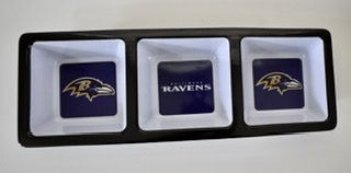 Baltimore Ravens Plastic Condiment/Snack Tray