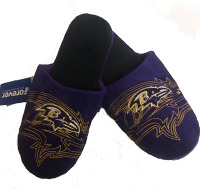 Ravens Purple Velour Men's Slippers