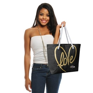 Baltimore Ravens Love Rope Tote Bag