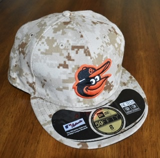 Baltimore Orioles Military Camouflaged Fitted Hat By New Era