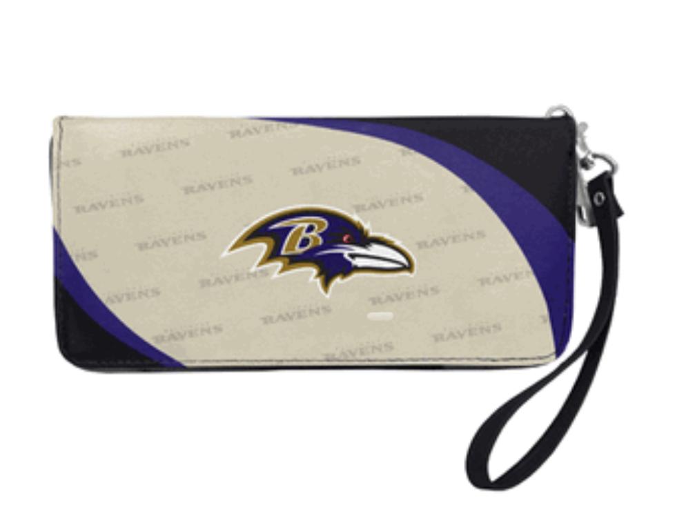 Baltimore Ravens Curve Zip Organizer Wallet