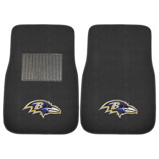 Baltimore Ravens 2pc Embroidered Car Mats