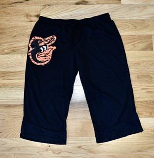 Baltimore Orioles Ladies Burnout Crop Pants