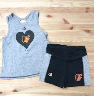 Baltimore Orioles Girls 2pc Tank & Short Set