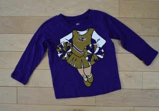 "Baltimore Ravens Toddler ""Be A Cheerleader"" Long Sleeve T-Shirt"