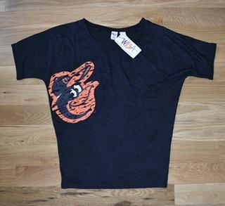 Baltimore Orioles Ladies Burnout Doleman Sleepwear Top