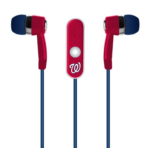 Washington Nationals Handsfree Earbuds With Microphone