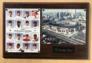 1993 Baltimore Orioles At Camden Yards Commemorative Plaque